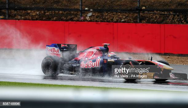 Toro Rosso's Sebastien Buemi during Second Practice Session during Practice for the Formula One Santander British Grand Prix at Silverstone Circuit...