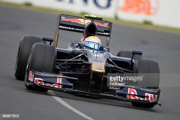 Toro Rosso's Sebastien Buemi during the first practice at Albert Park
