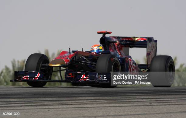 Toro Rosso's Sebastien Buemi during the Practice Session at the Bahrain International Circuit in Sakhir Bahrain