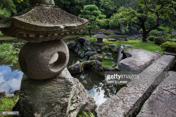 Toro Stone Lantern at Tamazato Garden officially known as Gardens of Tamazato Residence Naroiki Shimadzu built the villa called Tamazato Residence...