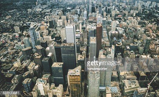 Vue aérienne de Toronto