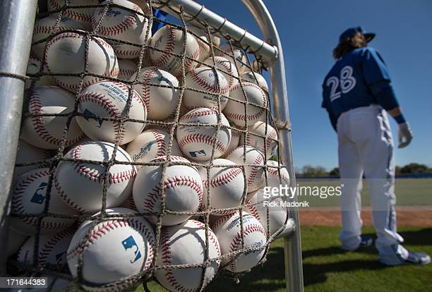 TORONTO ON FEBRUARY 18 130218 DUNEDIN FLORIDA Toronto Blue Jays continue with spring training as they prepare for the upcoming Grapefruit League Jays...
