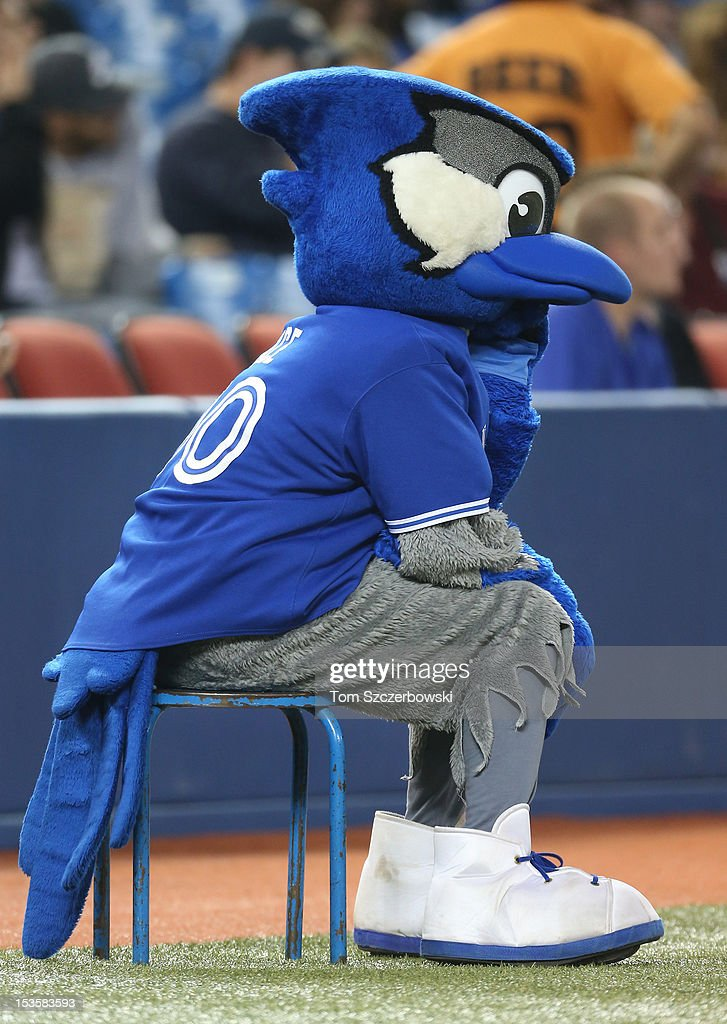 Toronto Blue Jays mascot Ace before MLB game action against the Minnesota Twins on October 3, 2012 at Rogers Centre in Toronto, Ontario, Canada.