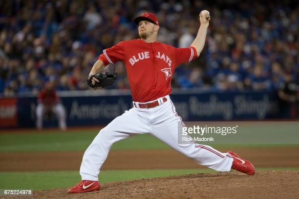 Toronto Blue Jays relief pitcher JP Howell pitches in relief Toronto Blue Jays Vs Tampa Bay Rays in MLB regular season play at Rogers Centre in...