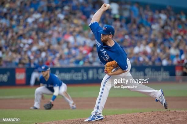 Toronto Blue Jays RH Pitcher Joe Biagini pitches during the regular season MLB game between the New York Yankees and the Toronto Blue Jays on...