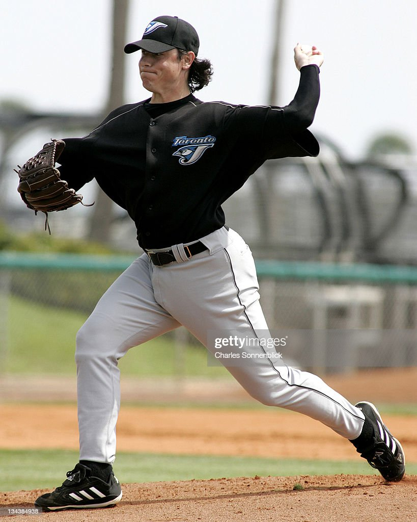 Toronto Blue Jays starting pitcher Scott Downs allowed only one hit against the Tampa Bay Devil Rays at Progress Energy Park during the Toronto Blue Jays vs Tampa Bay Devil Rays Spring Training game on March 3, 2006 in St. Petersburg, Florida. The Devil Rays beat the Blue Jays 4-2.