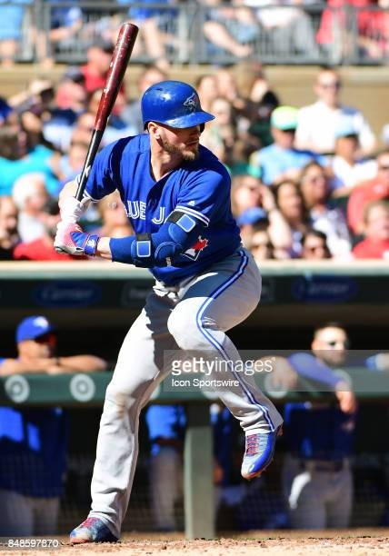 Toronto Blue Jays Third base Josh Donaldson at the plate during a MLB game between the Minnesota Twins and Toronto Blue Jays on September 17 2017 at...