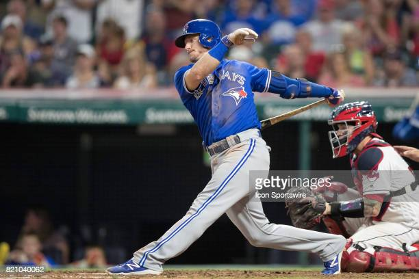 Toronto Blue Jays third baseman Josh Donaldson at bat during the ninth inning of the Major League Baseball game between the Toronto Blue Jays and...