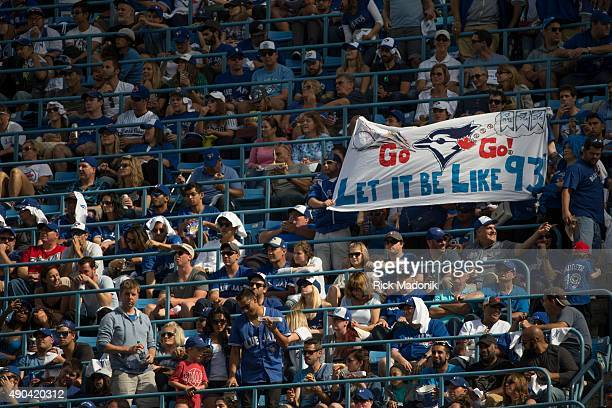 TORONTO ONTARIO SEPTEMBER 27 2015 Toronto Blue Jays vs Tampa Bay Rays in MLB action at Rogers Centre on SEPTEMBER 27 2015 This is the last home game...