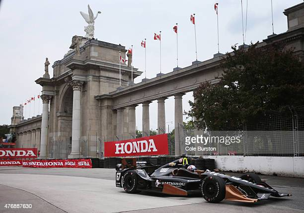 Toronto Canada June 12 Josef Negarden of Hendersonville Tennessee races during the Verizon IndyCar Series first practice run on Friday June 12 the...