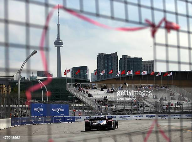 Toronto Canada June 13 An indy car speeds up the track during Saturday's practice of the Verizon IndyCar Series race on Saturday June 13 the...