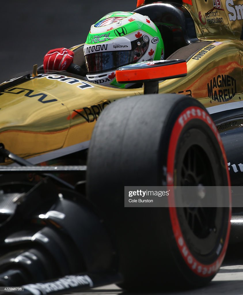 Toronto Canada June 13 Noblesville Indiana driver Conor Daly speeds up the track during Saturday's qualifier of the Verizon IndyCar Series race on...