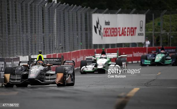 Toronto Canada June 14 Josef Newgarden of Tennessee races during his Verizon IndyCar Series victory on Sunday June 14 on Race Day of the Honda Indy...