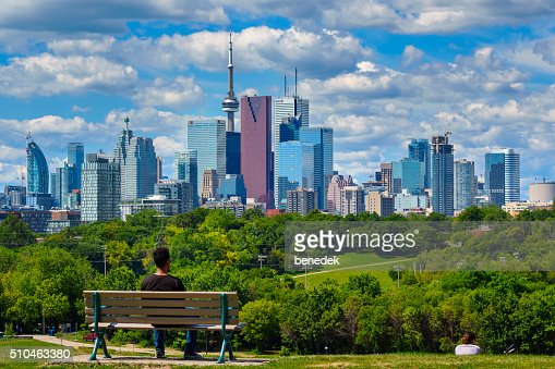 Toronto Canada Man at Riverdale Park