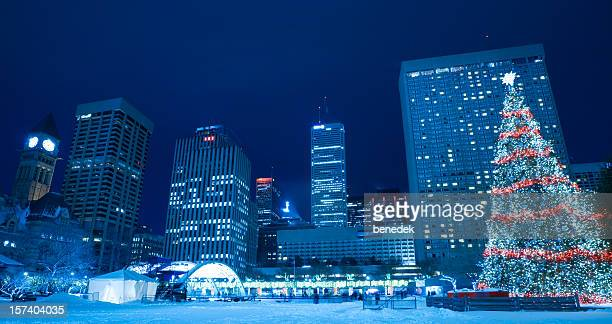 Toronto, Canada, Nathan Phillips Square during Winter