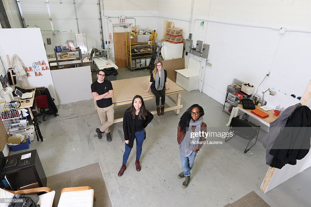 Toronto Canada November 14 2015 Left to right are Daniel Griffin Hunt Dorica Manuel Tiffany Scholfield and Daniièle Dennis Forced by high rents in...