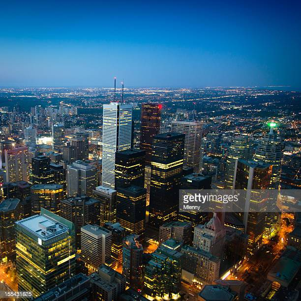 Toronto City by Night Ontario Canada
