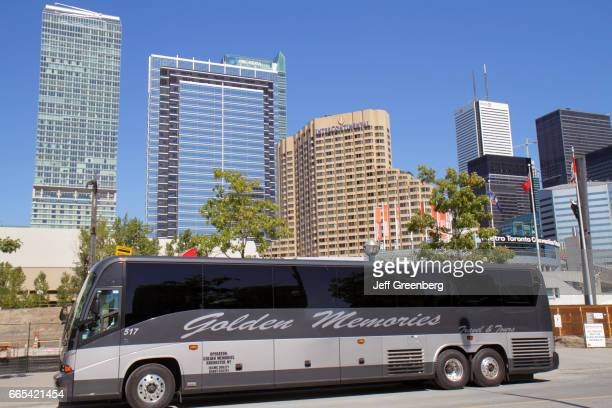 Toronto Convention Center exterior Golden Memories Transportation charter bus