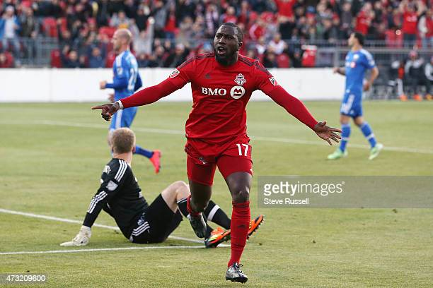 TORONTO ON MAY 13 Toronto FC forward Jozy Altidore opens the scoring in the first half as Toronto FC plays Montreal Impact in the SemiFinal of the...