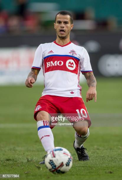 Toronto FC forward Sebastian Giovinco makes a pass during a MLS match between DC United and Toronto FC on August 05 at RFK Stadium in Washington DC...