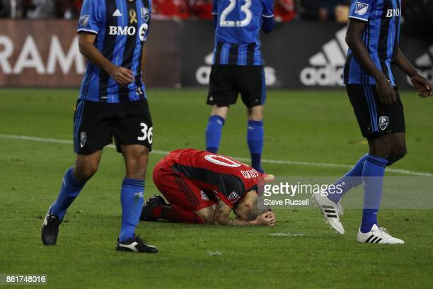 TORONTO ON OCTOBER 15 Toronto FC forward Sebastian Giovinco reacts after a near miss as Toronto FC play the Montreal Impact on the day they are...