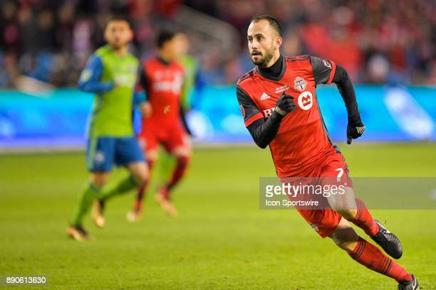 Toronto FC Midfielder Victor Vazquez turns and runs to assist a teammate during the MLS Cup Final played between the Seattle Sounders and Toronto FC...