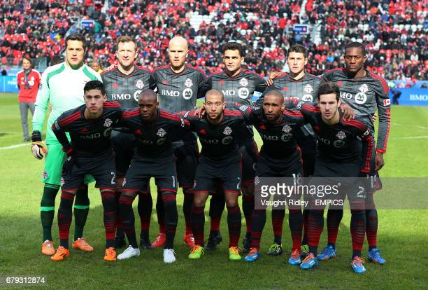 Toronto FC's team lineup prior to kickoff
