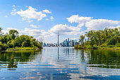 Torono cityscape from the Toronto Islands.