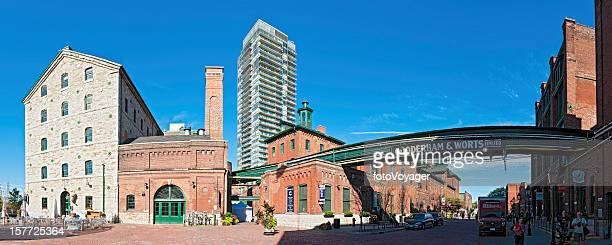 Quartier historique du centre-ville de Toronto, dans le quartier historique de la distillerie panorama Canada