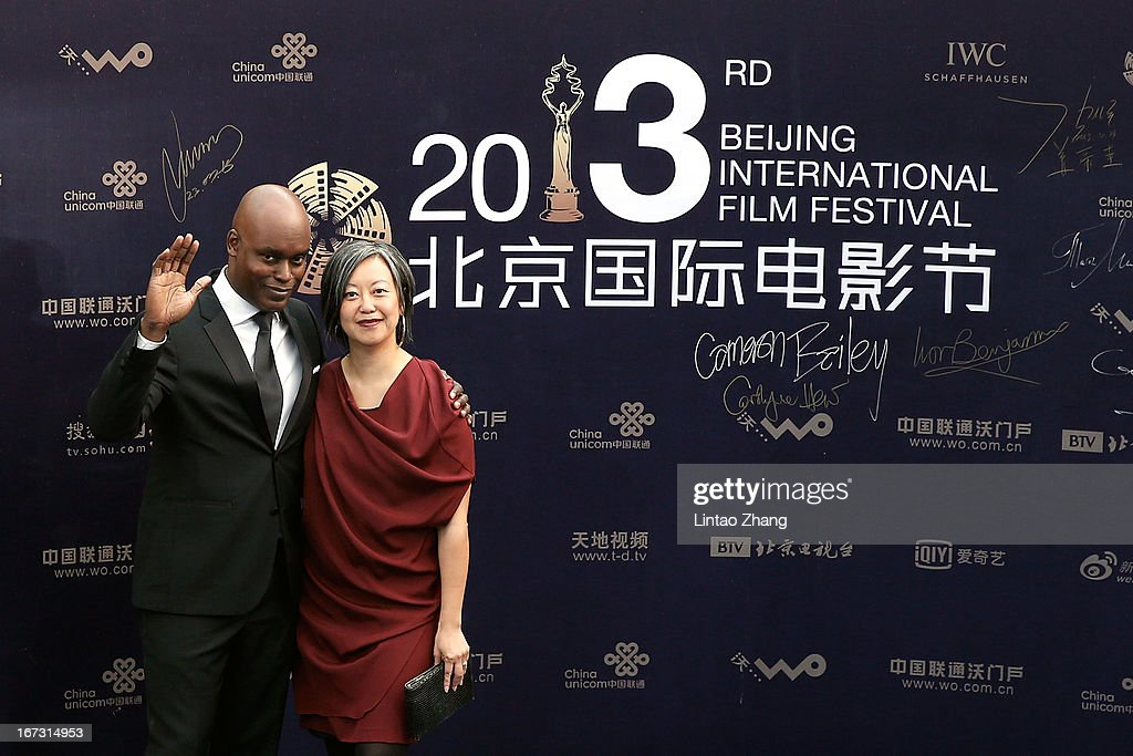 Toronto International Film Festival artistic director Cameron Bailey (L) arrives at the closing ceremony red carpet during the 3rd Beijing International Film Festival at China National Convention Center on April 23, 2013 in Beijing, China.