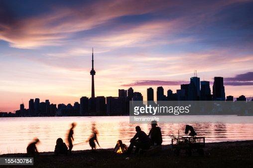 Île de Toronto pique-nique en famille au Canada