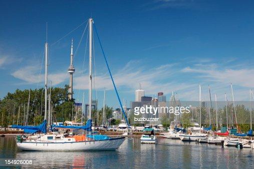 Toronto Island Marina : Stock Photo