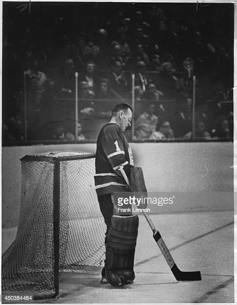 Toronto Maple Leaf goalie Johnny Bower Photo taken by Frank Lennon April 14 1966