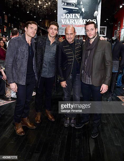 Toronto Maple Leaf Hockey players David Clarkson and Joffrey Lupul Fashion Designer John Varvatos and Toronto Maple Leaf Hockey player Jonathan...