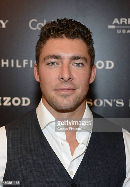 Toronto Maple Leaf Joffrey Lupul attends Guys Night Out at The Hudson's Bay on September 24 2015 in Toronto Canada