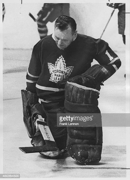 Toronto Maple Leaf Johnny Bower Photo taken by Frank Lennon April 2 1967