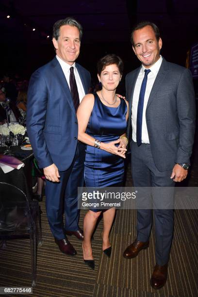 Toronto Maple Leaf President Brendan Shanahan Gala CoChair Marg Franklin and Actor/ Comedian Will Arnett attend Laughter Is The Best Medicine III...