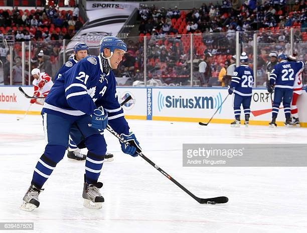 Toronto Maple Leafs alumni Borje Salming warms up before taking on Detroit Red Wings alumni during the 2017 Rogers NHL Centennial Classic Alumni Game...