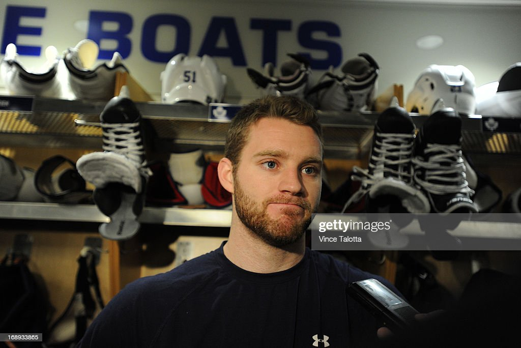 Toronto Maple Leafs Cody Franson talks to media at the end of the Maple Leafs season at the ACC.