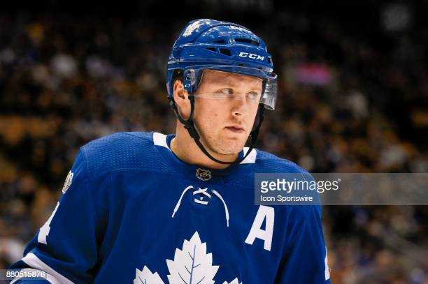 Toronto Maple Leafs Defenceman Morgan Rielly during the NHL regular season hockey game between the Washington Capitals and Toronto Maple Leafs on...