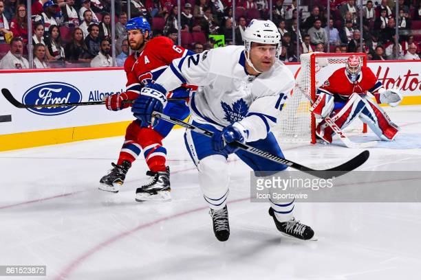 Toronto Maple Leafs Left Wing Patrick Marleau skates away from Montreal Canadiens Defenceman Shea Weber during the Toronto Maple Leafs versus the...