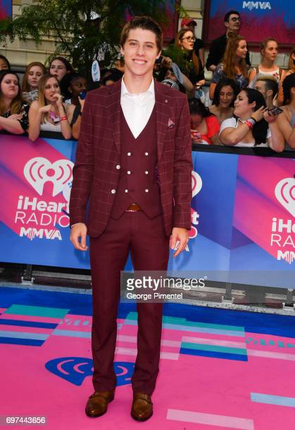 Toronto Maple Leafs' Mitch Marner arrives at the 2017 iHeartRADIO MuchMusic Video Awards at MuchMusic HQ on June 18 2017 in Toronto Canada