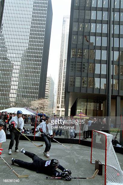 toronto may 3 2001 mcconnell pics of the bay street boys playing street hockey or at least court hockey at the td centre court for a good cause power...