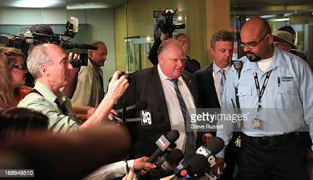 Toronto Mayor Rob Ford faces media briefly as he faces allegations that their is a video which he reportedly appears to be smoking crack cocaine at...