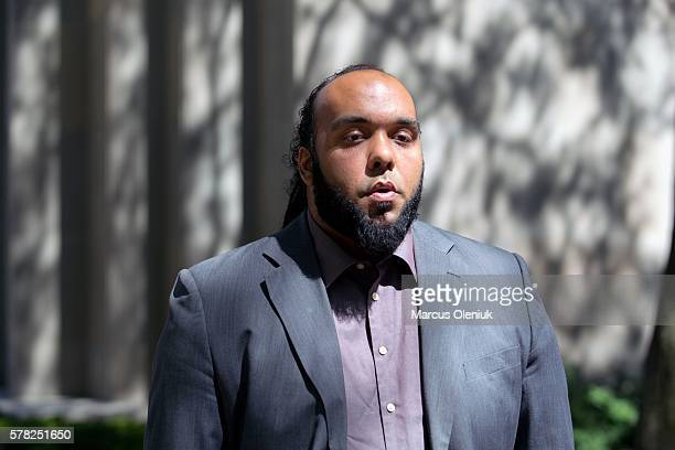 Toronto ON Canada JULY 20 Raymond Costain leaves court disappointed by the not guilty verdict for Christian Dobbs who was recorded on police dash cam...