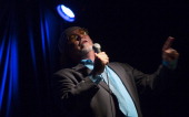 Toronto ON JULY 30 Slam poetry team captain Optimus Rhyme is the alter ego of comedian Richard Lett A Toronto based slam poetry team is looking...