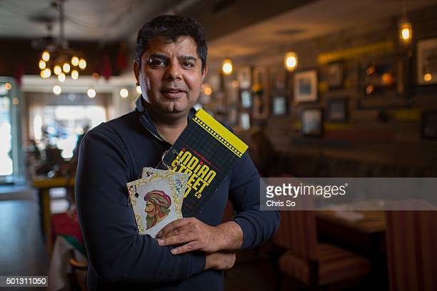 Toronto ON NOVEMBER 20 2015 Hemant Bhagwani owner of The Indian Street Food Co does not allow tipping at his restaurant Instead he charges a 12%...