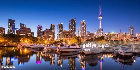 Vue panoramique de la ville de Toronto, dans l'Ontario, au Canada