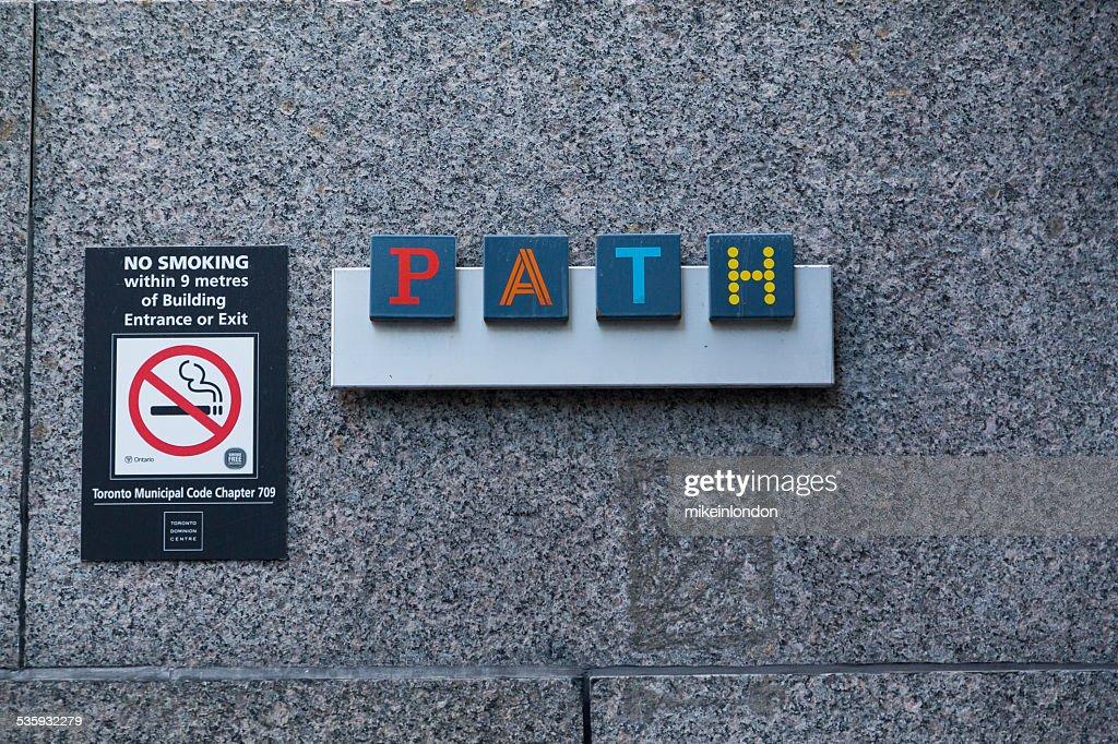 Toronto PATH Sign : Stock Photo