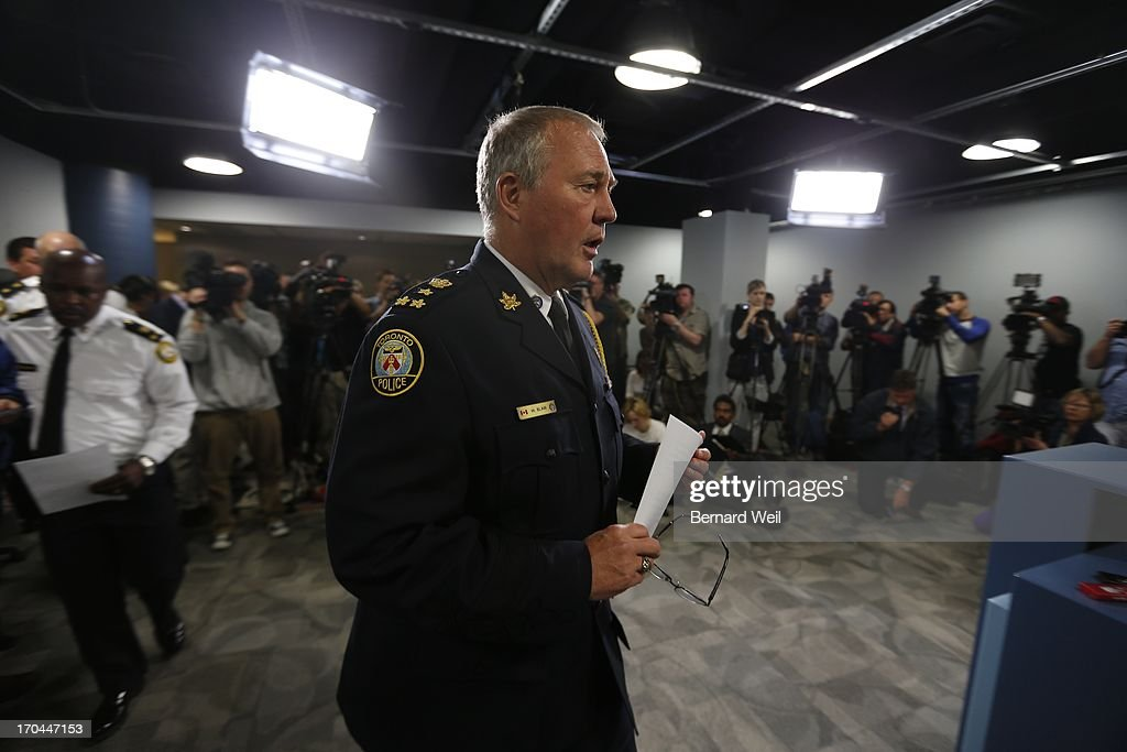 Toronto police chief Bill Blair speaks to the media about Project Traveller. Police launched massive predawn raid targeting guns and drugs Thursday, focusing on the Toronto neighbourhood thats ground zero for the Rob Ford crack video scandal.